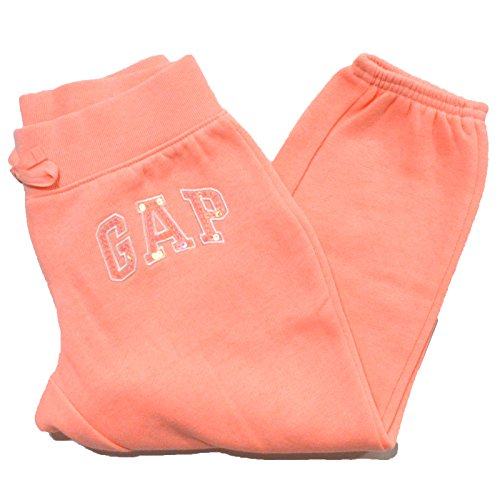 gap-girls-arch-logo-fleece-sweatpants-cropped-m-orange