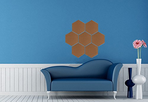 Frjjthchy 7 Pack Sexangle Memo Message Corkboard Mini Paste Wall Bulletin Boards Photo (Middle School Bulletin Board Ideas)