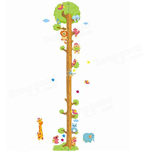 Pink Lizard Removerable PVC Animal Height Wall Sticker Cartoon Height Sticker by Pink Lizard Products (Image #3)