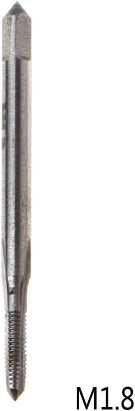 PINH-lang Gewindeschneider,Mini HSS Hochgeschwindigkeitsstahl Metrisch Maschine Stecker Gewinde Schraubwerkzeug M1-M3.5 Neu