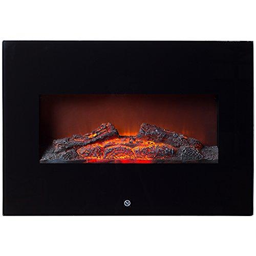 Elektrischer Wandkamin 1800W Wandmontage 2 Heizstufen Überhitzungsschutz LED Flammeneffekt sicher und sauber