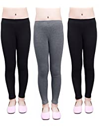 Girls Leggings 3 Pack Modal Solid Size 4-16 Spring/Fall