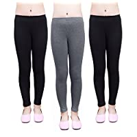 IRELIA Girls Leggings 3 Pack Cotton Solid Size 4-16 Spring/Fall