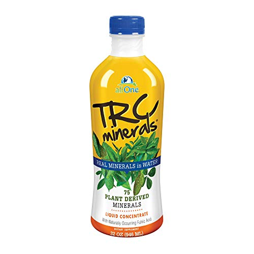 allOne® TRC Minerals Liquid | Unflavored | Full Spectrum of 75 Plant-Derived Trace Minerals & Electrolytes Per Ounce | 32oz