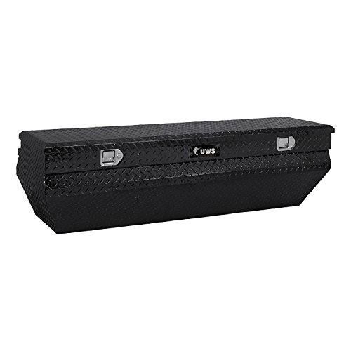 UWS TBC-62-WN-BLK Wedge Chest Aluminum Box with Black Notched Beveled Insulated ()