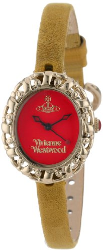Vivienne Westwood Women's VV005RDYL Rococo Swiss Quartz Yellow Leather Strap Watch
