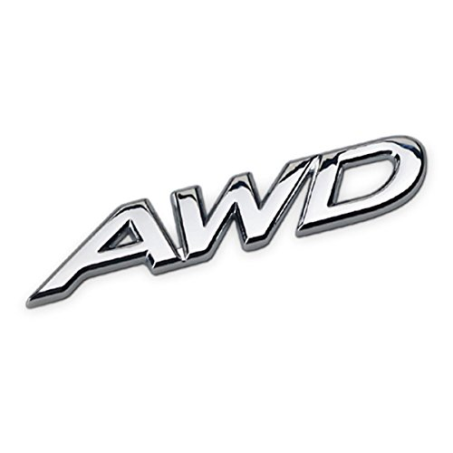 Dsycar 3D Metal AWD Car Side Fender Rear Trunk Emblem Badge Sticker Decals for Jeep Dodge Mercedes BMW Mustang Volvo Chevrolet Nissan Audi VW Ford Honda Jaguar (#2)