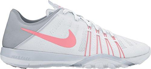 NIKE Wmns Nike Free TR 6–White/Bright Melon de loup gris