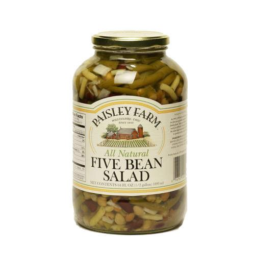 Paisley Farm All Natural Five Bean Salad - 64oz - CASE PACK OF 4 by Paisley Farm