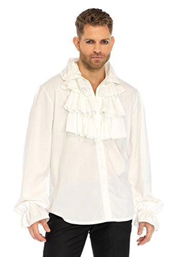 Leg Avenue Mens Pirate Gothic Vampire Shirt, White, Medium -
