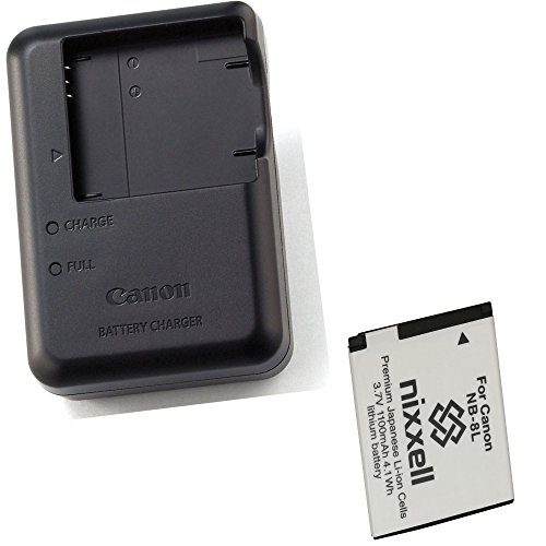 Canon CB-2LA Charger for Canon NB-8L Li-ion Battery compatible with Canon PowerShot A2200, A3000 IS, A3100 IS, A3200 IS, A3300 IS Digital Cameras + Bonus Battery!
