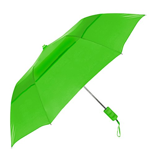 StrombergBrand The Vented Windproof Umbrella Lime Green (Lime Green Umbrella)