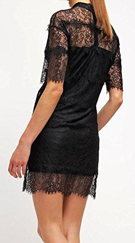 Moss Copenhagen MELLY Damen Kleid Freizeitkleid Abendkleid Schwarz Gr.36 Gp5pu
