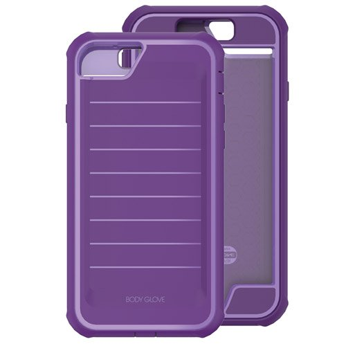Lavender Faceplates (Body Glove Ultra Military Rugged Heavy Duty Plum And Lavender Purple Shock Resistant / Screen protection / Shocksuit Series Cover Case 7 4.7 Inch Cellphone)