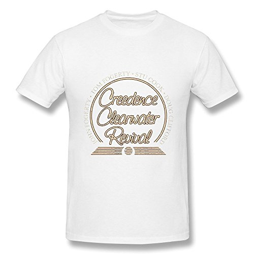 HUBA Men's Tee Creedence Clearwater Revival White Size XXL]()