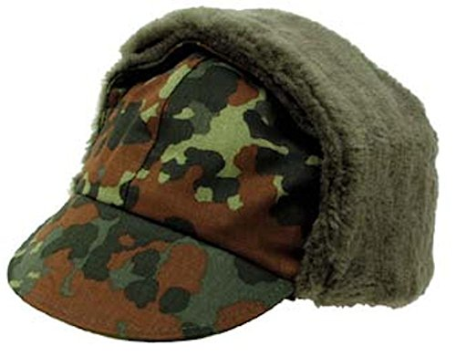 Mil-Tec German Original Flectar Camo Winter Cap (GER: 60 US: 7 1/2) (Bundeswehr Hat)