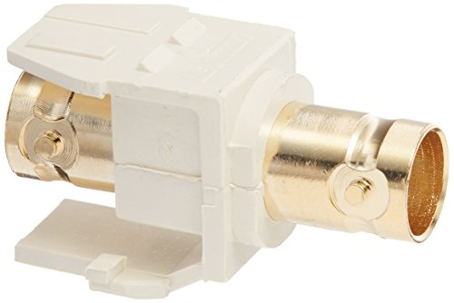 Leviton 40832-BT BNC QuickPort Adapter, Gold-Plated, Light (Leviton Bnc Adapter)