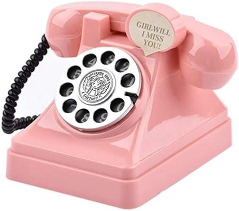 NITIUMI 貯金箱 ピギーバンク レトロ電話貯金箱 美しいピン 装飾電話機 ご家庭の装飾に 子供 おもちゃ 子どもクリスマス プレゼント 贈り物 ピンク