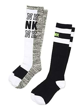 Victoria's Secret PINK! Knee High Sock 2 Pairs Black/White