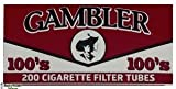 Gambler Full Flavor 100 Cigarette Tubes (10 Boxes) 200 Count Per Box = 2000 Tubes
