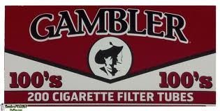 Gambler Full Flavor 100 Cigarette Tubes (10 Boxes) 200 Count Per Box = 2000 Tubes by Gambler