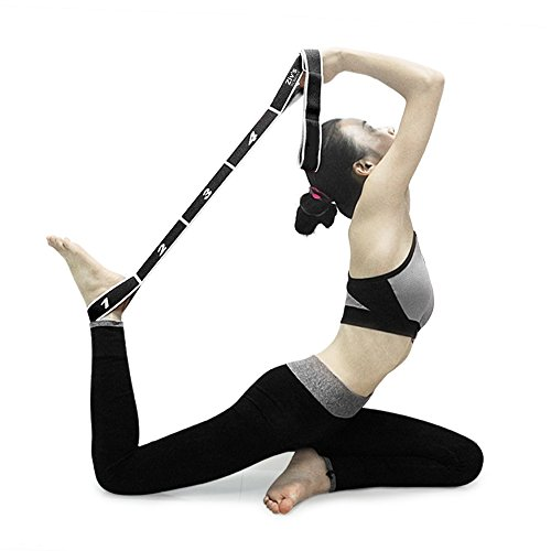 Ziv'sworkout Elastic Stretching Resistance Band, 11 Flexible Loops with Head Band - Arm Warmers With Straps
