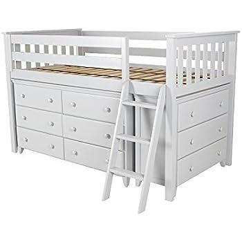 Loft Bed With Dresser Underneath Seating Underneath Moda Loft Bed