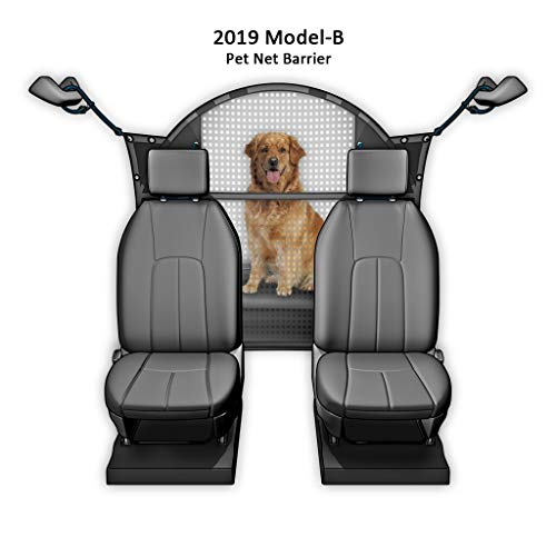 Improved for 2019 Pet Net Vehicle Safety Mesh Dog Barrier - 50 W for SUV/Car / Truck/Van - Fits Behind Front Seats
