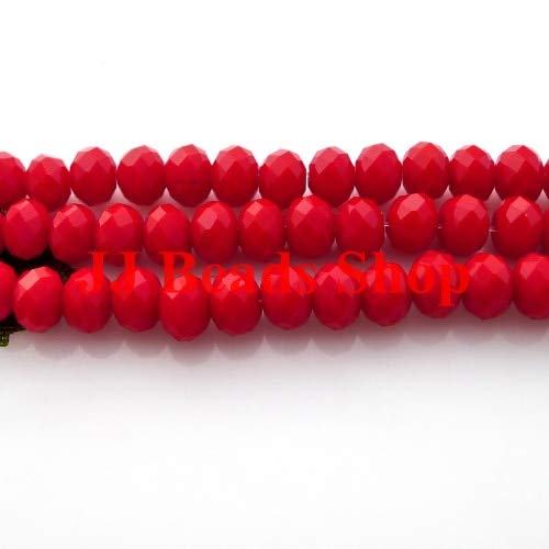 (Calvas 7.83USD/600pcs 6mm AAA top Quality Crystal Glass 5040 rondelle Beads red Coral Alabaster Colour 600pcs/lot R060469)