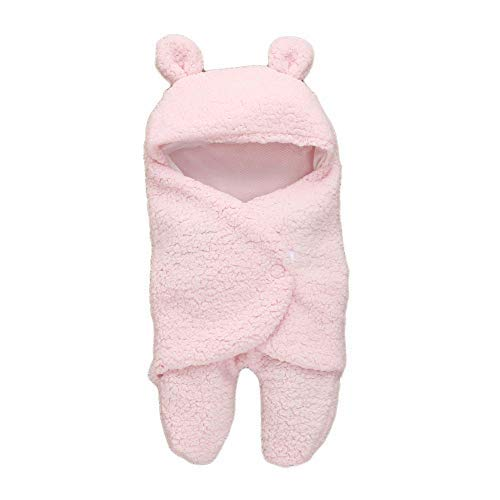 My NewBorn 3 in 1 Baby Blanket (Pack of 2, White/Pink)