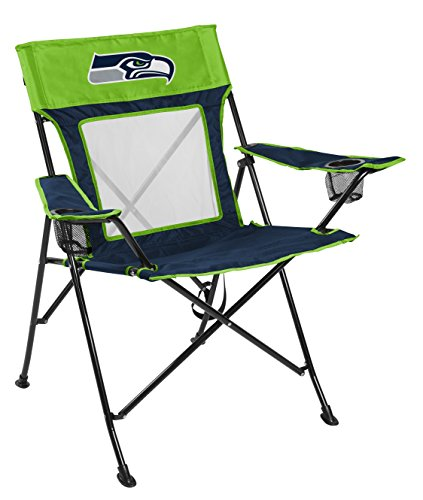 Rawlings NFL Game Changer Large Folding Tailgating and Camping Chair, with Carrying Case, Seattle Seahawks