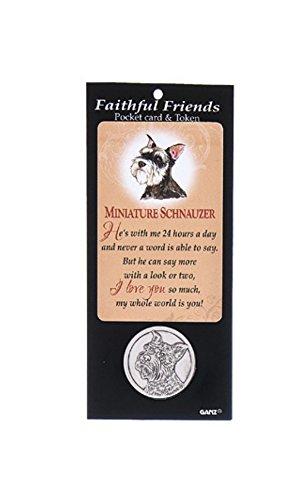 Ganz Faithful Friends Pocket Card & Token - Miniature Schnauzer