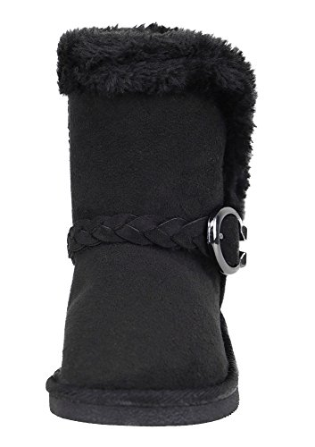 Arctic Paw Girls Winter Warm Boots Faux Fur Lined Snow Boots Kids Flat  Boots Black 1 c88029652