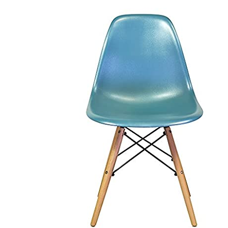 Eames Eiffel DSW Style Side Dining Chair Teal