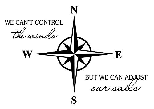 (RUKI We can't control the winds but we can adjust our sails Wall Decal Vinyl Sticker Art Room Decor - 23