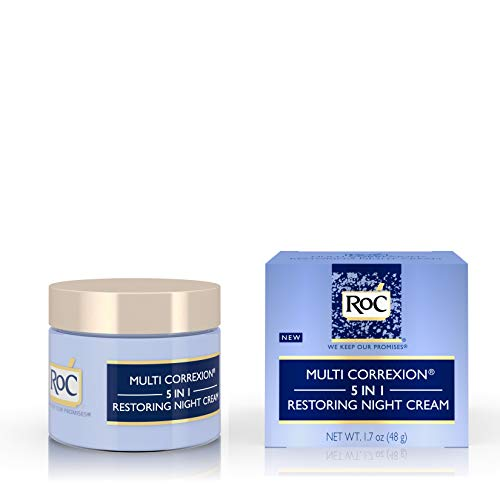 41Tq SKYpnL - RoC Multi Correxion 5 in 1 Restoring Anti-Aging Facial Night Cream, Wrinkle Treatment for Face & Neck Made with Hexinol Technology, 1.7 oz