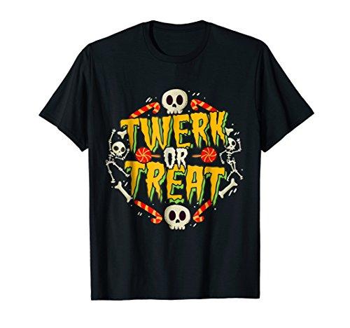 Funny Halloween Costume T-Shirt Twerk or Treat -