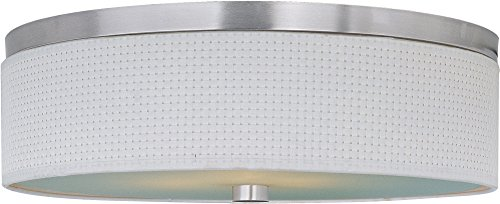 ET2 E95104-100SN Elements 3-Light Flush Mount, Satin Nickel Finish, Glass, GU24 Fluorescent Bulb, 20W Max., Dry Safety Rated, 2900K Color Temp., Low-Voltage Dimmable, Glass Shade Material, 2880 Rated Lumens