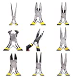 Jewellery Making Beading Pliers Round Flat Wire Side Cutters Kit Set M05 Dropship Size 6