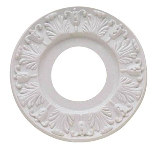 2 Inch Medallion Insert - Westinghouse 7702700 Victorian White Ceiling Medallion 10