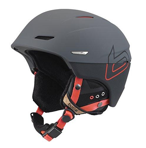 (Bolle Millennium Soft Knit Helmet, Grey/Orange, 61-63cm)