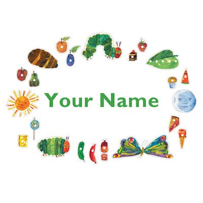 Personalized The Very Hungry Caterpillar Kids Name Wall -