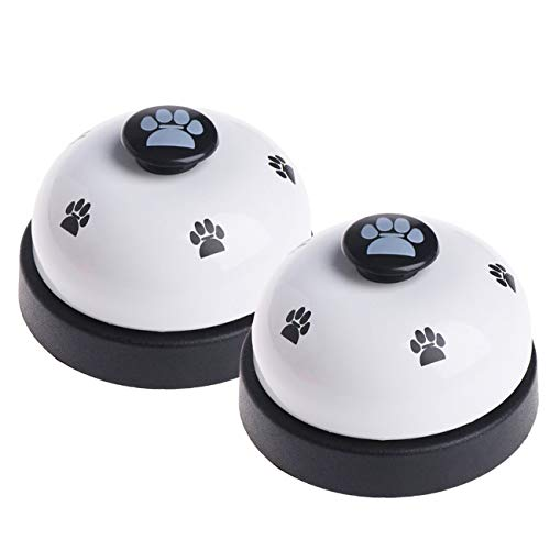 Malier 2 Pack Dog Training Bells, Dog Cat Door Bells, Dog Puppy Pet Training Bells for Potty Training and Communication Device (Cute Paw Prints- ()