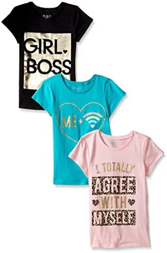 The Children's Place Big Girls and Little Graphic Tees (Pack of 3)