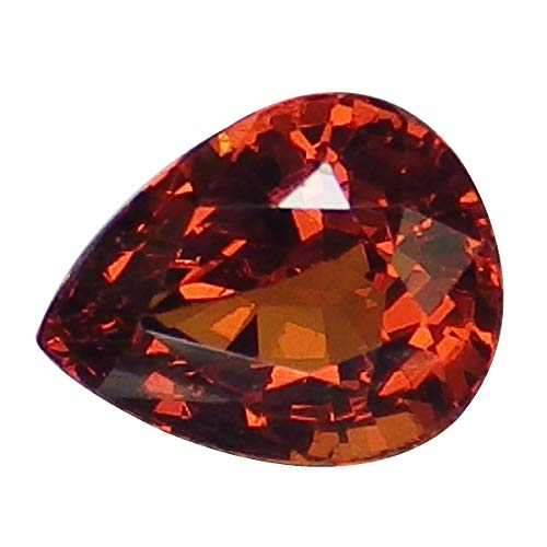 0.87 Ct. Natural Pear Orange Spessartine Garnet Loose Gemstone