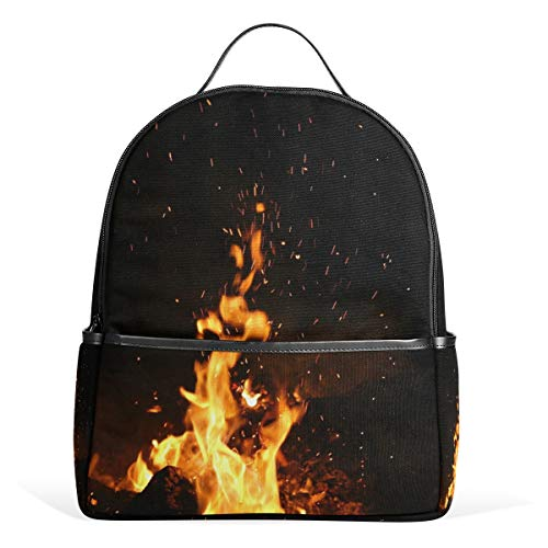 MUOOUM Unique Blaze Fire Backpack Casual Daypack School College Travel Bag for Teens Boys -