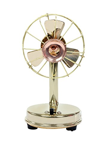 Desi Toys Vintage Antique Battery Brass miniature functional fan, Home decor, Vintage, collectible, perfect decorative piece, awesome table top by Desi Toys