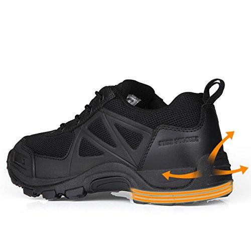 Libre Soldado Hombres al aire libre zapatos de senderismo bajo de la Wild botas de senderismo negro