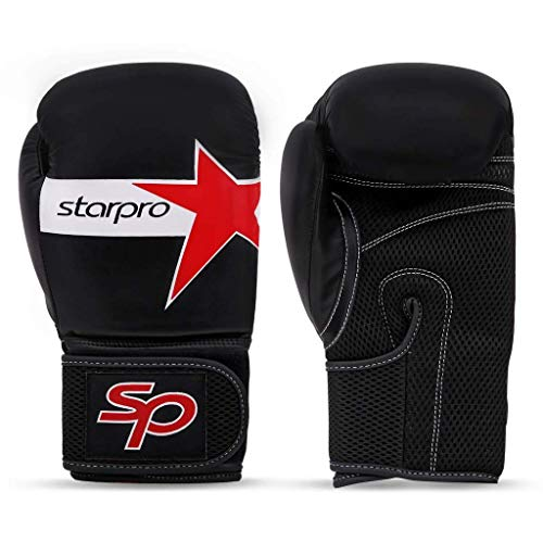 Starpro Boxing Gloves for Men Women – Synthetic Leather – 10oz 12oz 14oz 16oz – Heavy Bag Gloves for Kickboxing and…