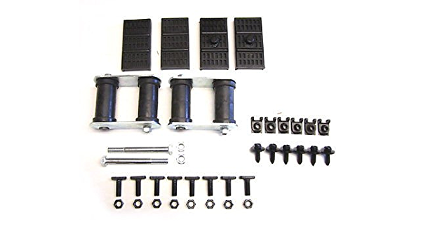 Prothane 7-1051-BL Black Rear Mono Leaf HD Shackle Bushing Kit